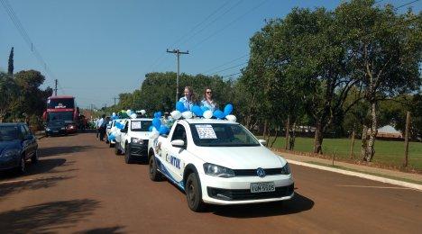 Desfile da semana da Pátria em Novo Machado