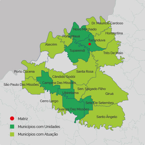 Mapa Áreas de Atuação